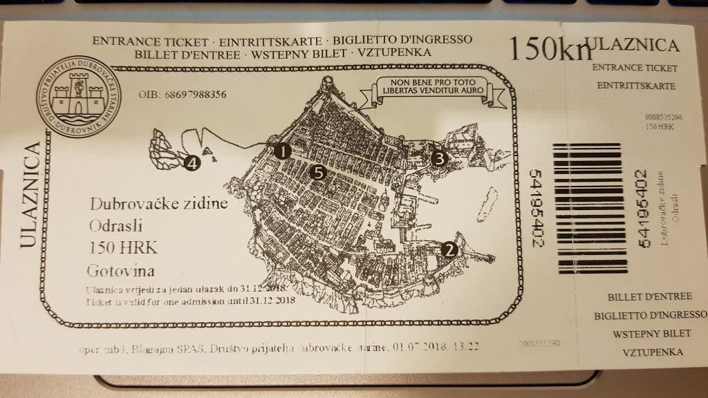 dubrovnik walls ticket
